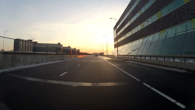 Driving on the highway, car POV video