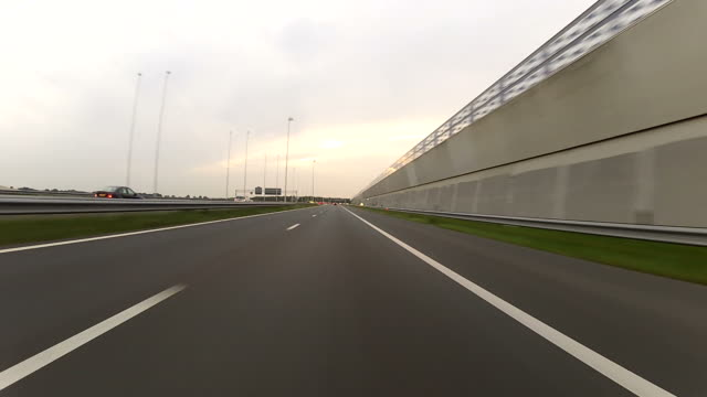 Driving on the highway POV video