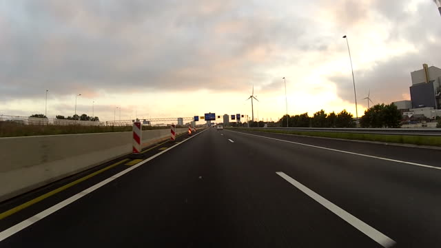 Driving on the Highway with gopro camera mounted video