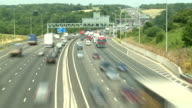 Driving on the Motorway outside London video