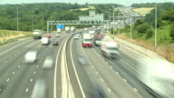 Driving on the motorway outside of London video