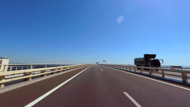 Driving on the ocean -Tokyo Bay Aqua-Line- 4K- video