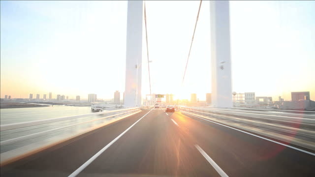 Driving on Tokyo Rainbow bridge video