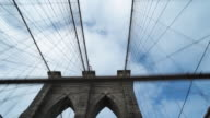 POV driving over Brooklyn Bridge video