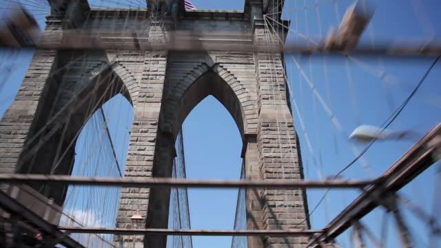 Driving over the Brooklyn Bridge video