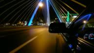 Driving over the Zakim Bridge in Boston, Massachusetts video