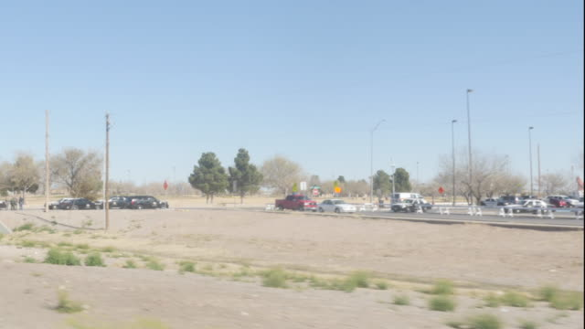 Driving Past a Police Scene on the Way to Juarez, Mexico video