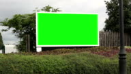 Driving past an Advertising Billboard - Green screen video