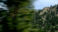 driving past trees and mountains video