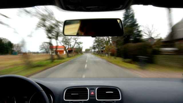 Driving Point Of View on Country road video
