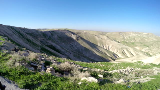 Driving pov of Rocky Hills of the Negev Desert in Israel video
