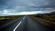 POV driving road in Iceland video