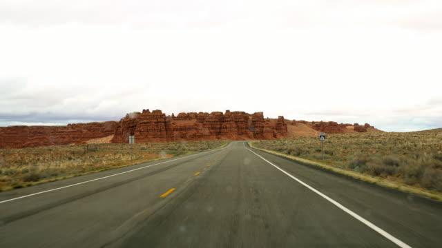 POV Driving through a desert video