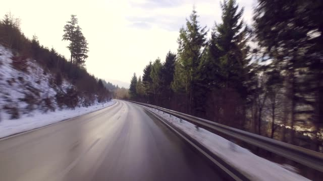 Driving Through Germany, Black Forest in Winter video