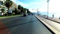Driving through Nice, France, along Promenade des Anglais video