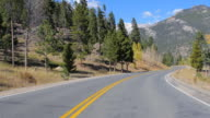 Driving through Rocky Mountain Range, Colorado video