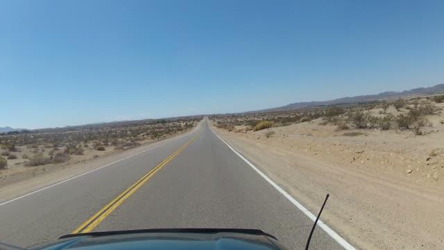 POV Driving through scenic deserts views video