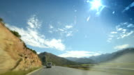 Driving through scenic South African mountain pass, daytime video