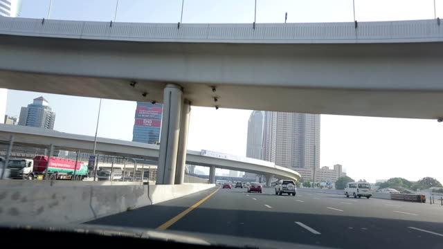 Driving through streets of Dubai video