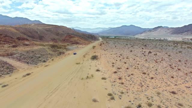 Driving through the arid desert video