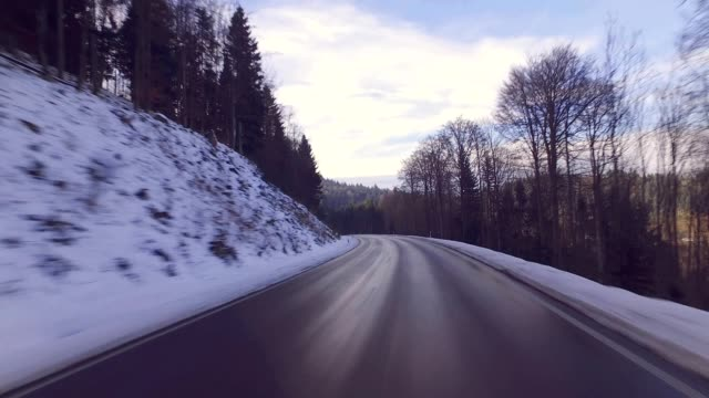 Driving through the Black Forest, Germany, in Winter video