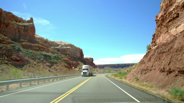 POV Driving through the Canyonlands National Park video