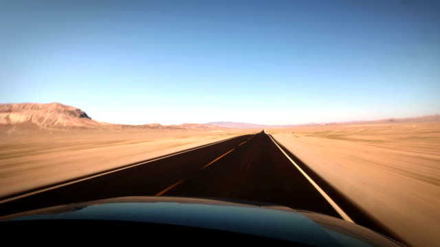 Driving through the desert,USA video