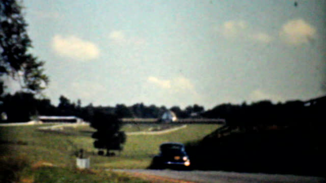 Driving Through The Virginia Countryside-1940 Vintage 8mm film video