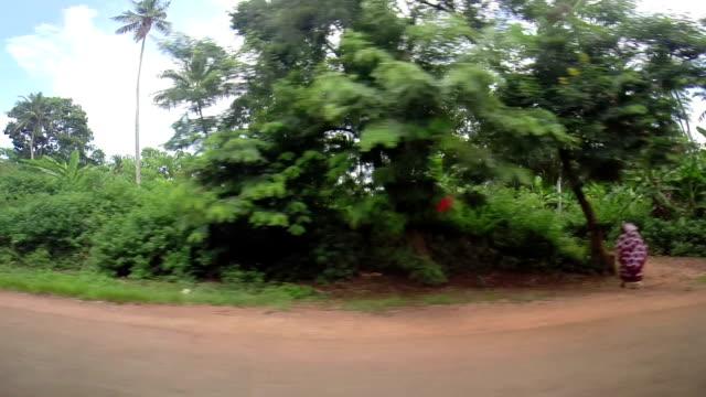 Driving through Zanzibar's island video