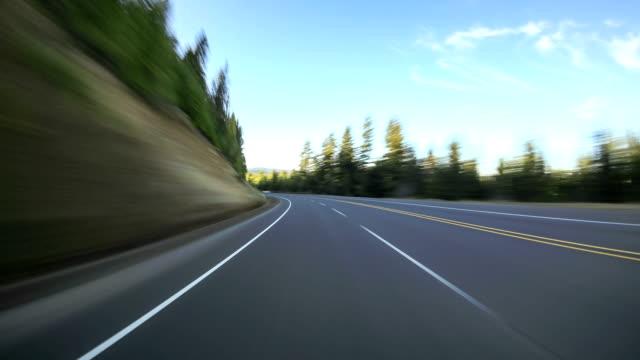 Driving Time Lapse Oregon Cascades into Desert video