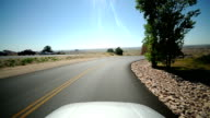 POV driving time lapse video
