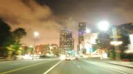 Driving timelapse Downtown Los Angeles video