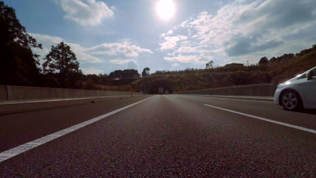 Driving to tunnel -4K- video
