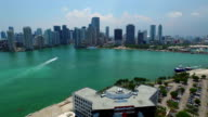 Drone aerial Downtown Miami video
