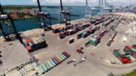 Drone aerial port of miami video