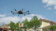 Drone Delivering a Package to Customers video