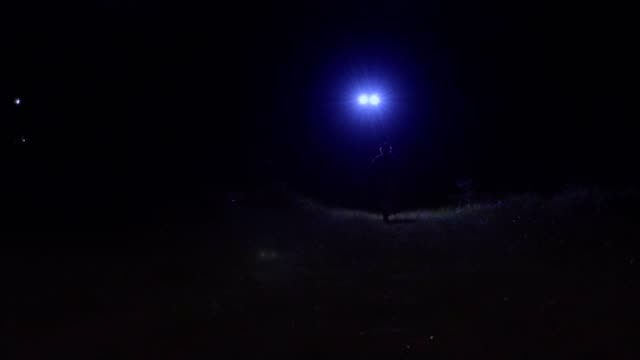 Drone Hunting Fugitive on The Run at Night video