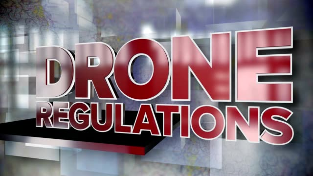 Drone Regulations Dynamic Title Page Background video