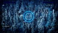 Drone Scanning Frozen Landscape POV video