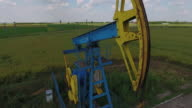 4K Drone Shot Of A Pump Jack video