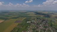 4K Drone Shot Of A Romanian Village video
