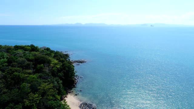 Drone shot of beautiful Thai beach video