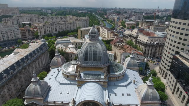 4K Drone Shot Of The CEC Palace video