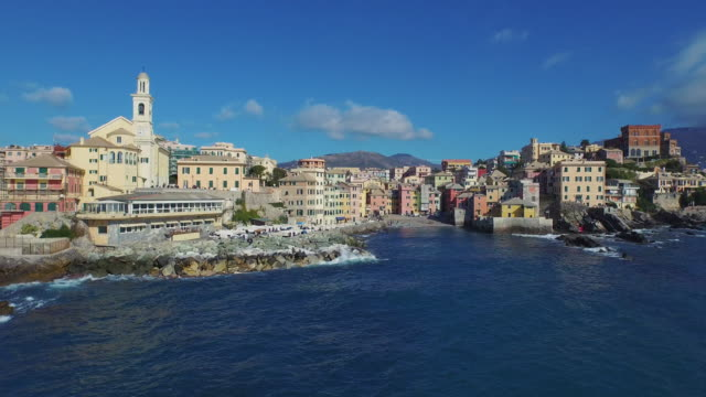 Drone view of Genoa, Italy video