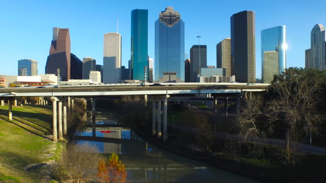 Drone view of Houston skyline. video