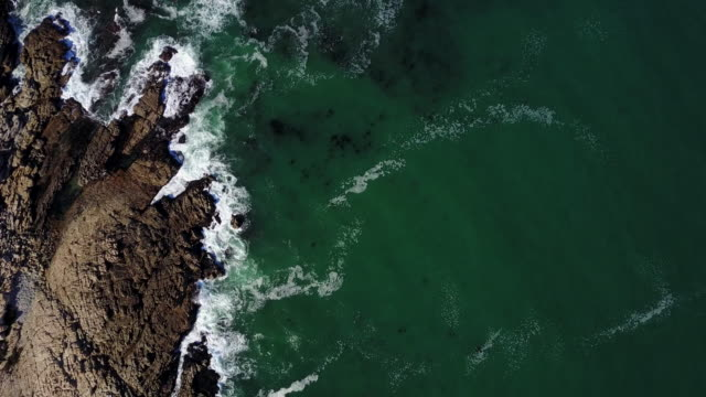 Drone view point of the turquoise colored sea video
