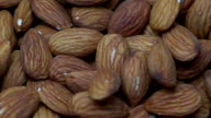 Dropping almonds - Slow motion video