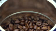 Dropping coffee beans video