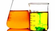 Dropping green liquid into Beaker video