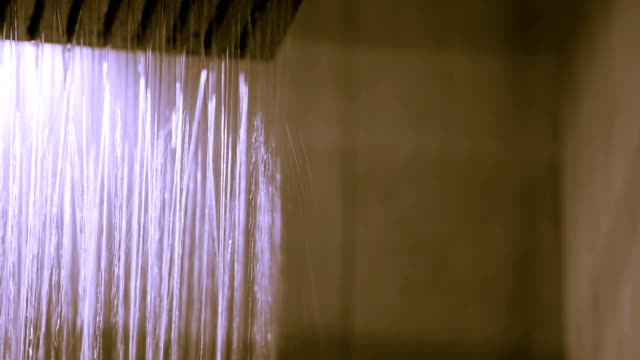 HD:  Drops of water falling from rain shower video